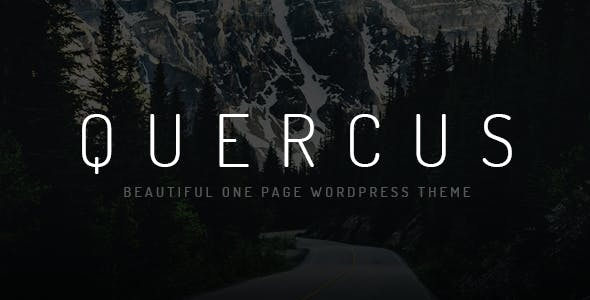 Quercus - Responsive One Page WordPress Theme