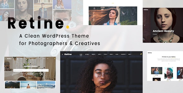 Retine - A WordPress Theme for Photographers and Creatives - Photography Creative