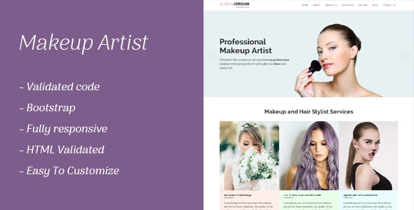 Makeup Artist Responsive Template - Health & Beauty Retail