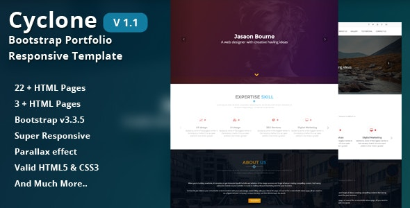 Cyclone-Bootstrap Portfolio Responsive Template - Portfolio Creative
