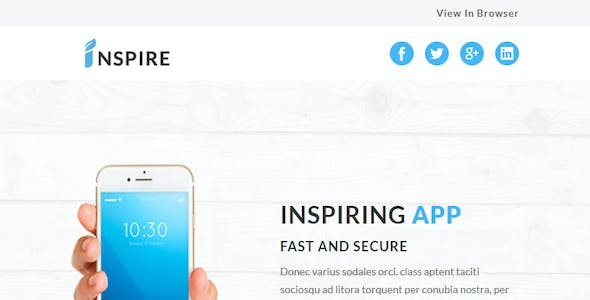 Inspire - Multipurpose Responsive Email Template with Stampready Builder Access
