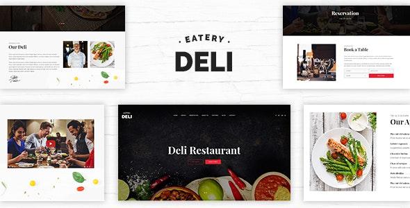 Deli | Restaurant PSD Template - Restaurants & Cafes Entertainment