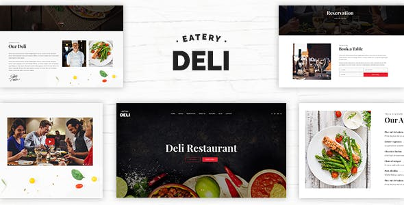 Deli   Restaurant PSD Template