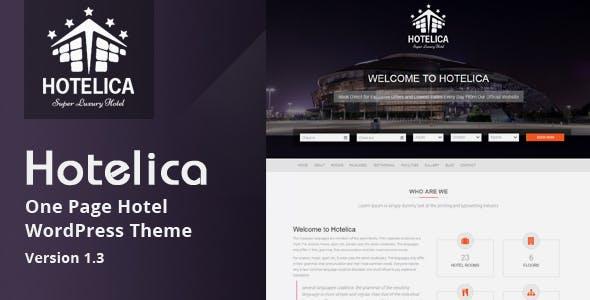 Hotelica - One Page Hotel WordPress Theme