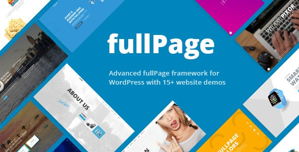FullPage - Fullscreen One Page Theme - Business Corporate