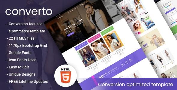 Converto - Conversion Optimized eCommerce HTML5 Template - Fashion Retail