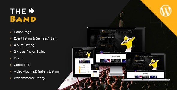 TheBand Music WordPress Theme - Music and Bands Entertainment