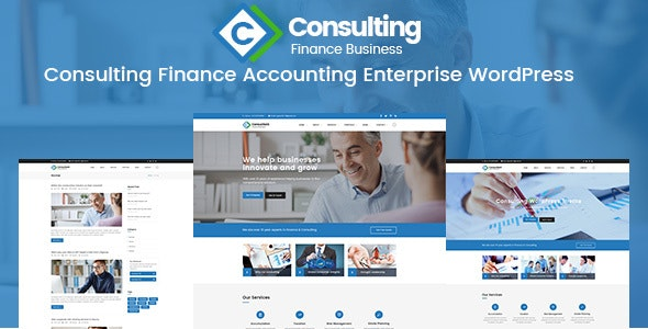 Consulting Finance Accounting Enterprise PSD Template - Corporate Photoshop
