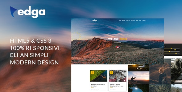 Edga - One Page Creative HTML Template - Creative Site Templates