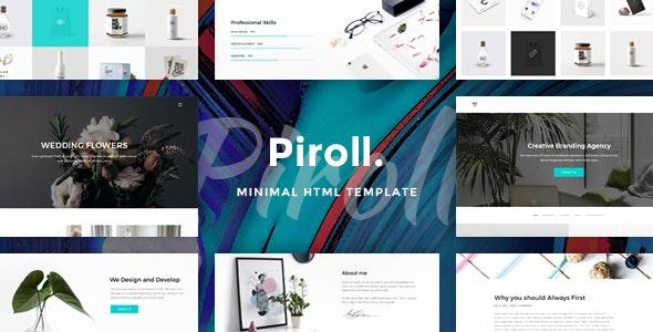 Piroll — Minimal and Modern Portfolio HTML Template - Portfolio Creative