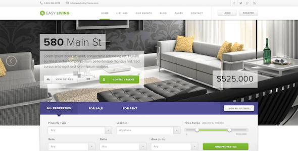 Easy Living - Real Estate HTML Template