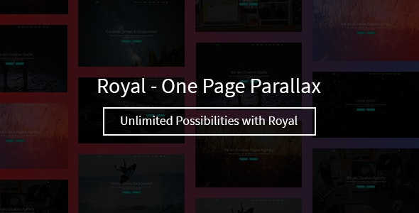 Royal – One Page Parallax - Creative Site Templates