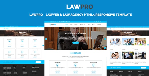 LawPro - Lawyer & Law Agency HTML5 Responsive Template - Corporate Site Templates