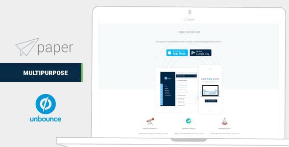 Paper Mulitipurpose Unbounce Landing Pages - Unbounce Landing Pages Marketing