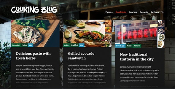 Cooking Blog — Food Recepies WordPress Theme - Food Retail