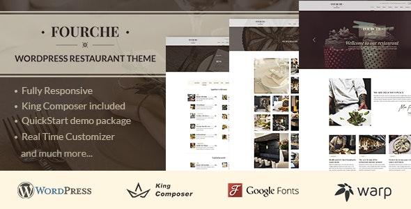 Fourche — Restaurant & Cafe WordPress Theme - Restaurants & Cafes Entertainment