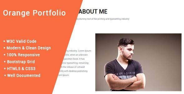 Orange => Creative Portfolio One Page - Portfolio Creative