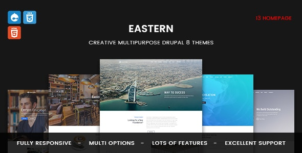 Eastern - Responsive Multipurpose Business Drupal 8 Theme - Corporate Drupal