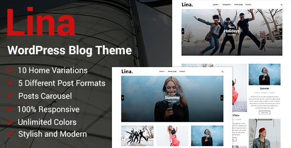 Lina - Responsive WordPress Blog Theme