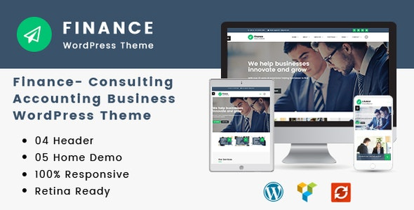 Finance v1.3.8 – Consulting, Accounting WordPress Theme