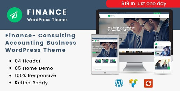 Finance - Consulting, Accounting WordPress Theme