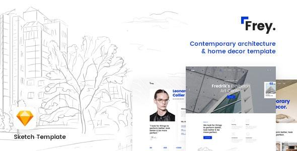 Frey - Contemporary Architecture & Portfolio Sketch Template - Business Corporate