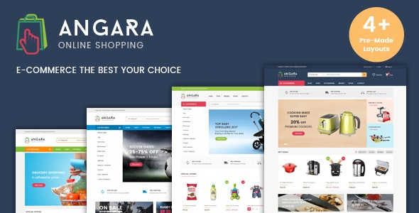 Angara - Organic Sports Store HTML Template - Shopping Retail