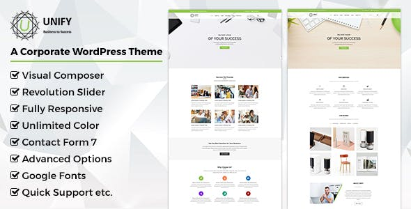 Unify- Corporate WordPress Theme