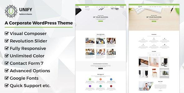 Unify- Corporate WordPress Theme - Corporate WordPress