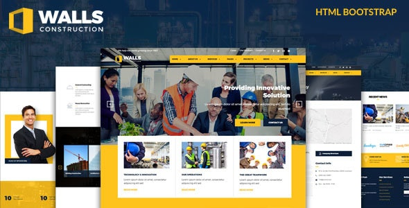 Walls - Construction HTML Template - Business Corporate