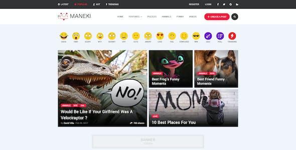 Maneki - Viral & Buzz PSD Template