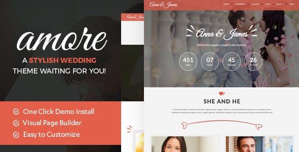 Download Amore Wedding : WordPress Theme for Weddings