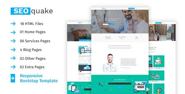 SEO quake - SEO & Digital Marketing Agency Responsive Template - Business Corporate