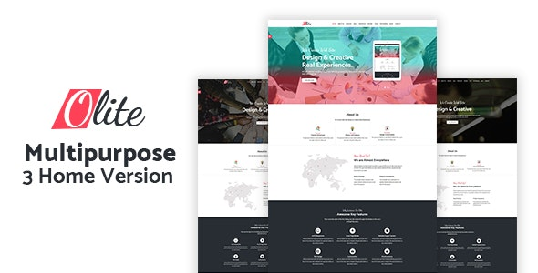 Olite - One Page Multipurpose HTML5 Template - Corporate Site Templates