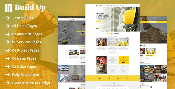 Build Up- Real Estate & Construction HTML Template - Corporate Site Templates