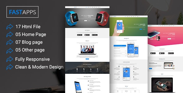 FASTAPPS Creative Mobile Apps Multiplepurpose HTML5 Template - Creative Site Templates