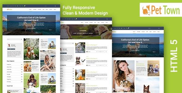 PetTown - Blog & Shop Responsive HTML5 Template - Corporate Site Templates