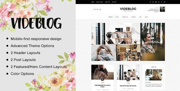 Videblog: A Responsive WordPress Blog Theme - Personal Blog / Magazine