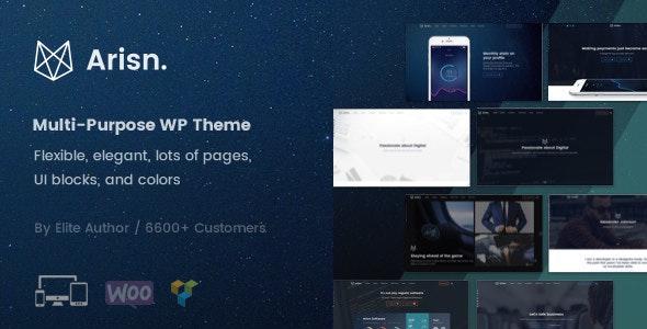Arisn - Creative Multi-Purpose / App WordPress Theme - Corporate WordPress