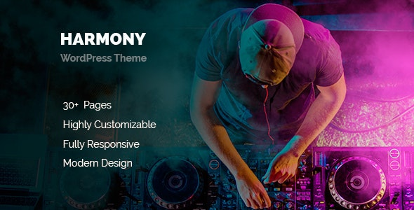 Harmony Music WordPress - Music and Bands Entertainment