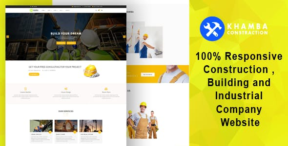 Khamba  - Construction , Building and Industrial Company HTML5 Template