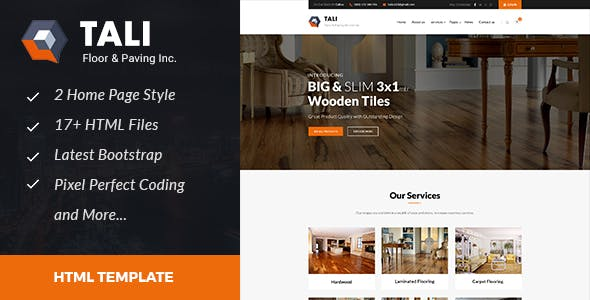 Tali : Floor and Paving Service HTML Template