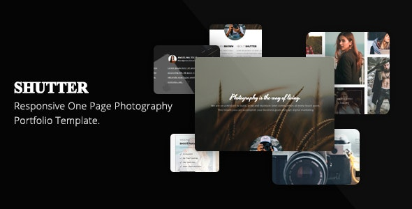 Shutter One Page Photography Portfolio Template - Photography Creative
