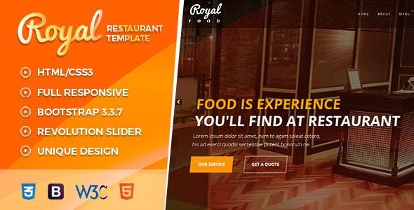 Royal Food | Restaurant ,Cafe HTML template - Restaurants & Cafes Entertainment