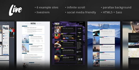 Live — Blog Template - Personal Site Templates