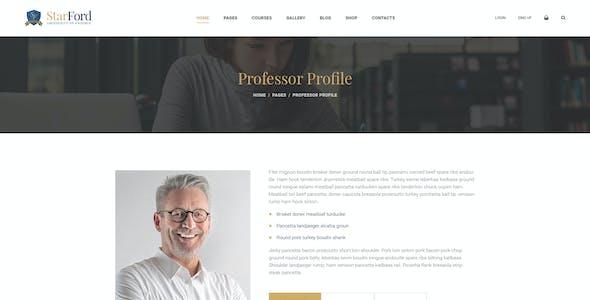 StarFord - University Educational Establishment PSD Template