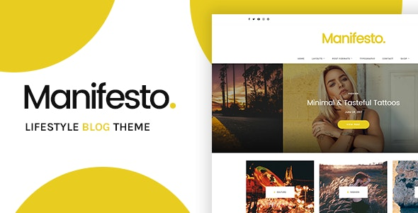 Manifesto - Lifestyle Blog WordPress Theme - Blog / Magazine WordPress