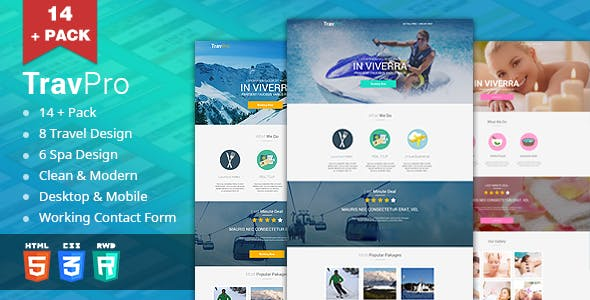 TravelPro - Travel/Spa Landing Pages (HTML5)