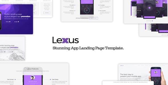 Lexus Responsive App Landing Page