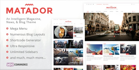 Matador - Responsive News, Blog, & Magazine Theme - Blog / Magazine WordPress
